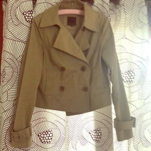 The Limited Cropped Trench style Coat